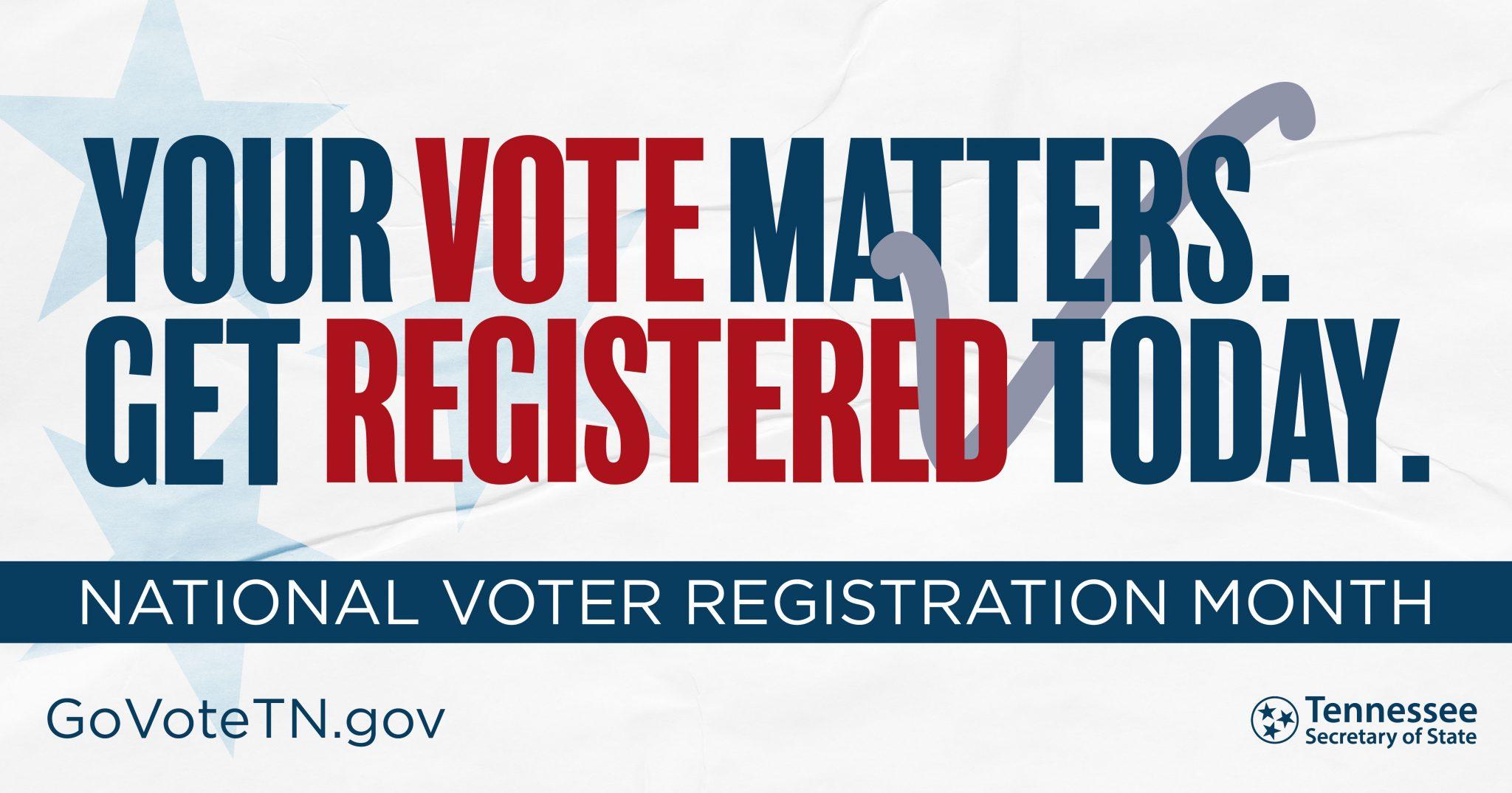 National Voter Registration Month & Day